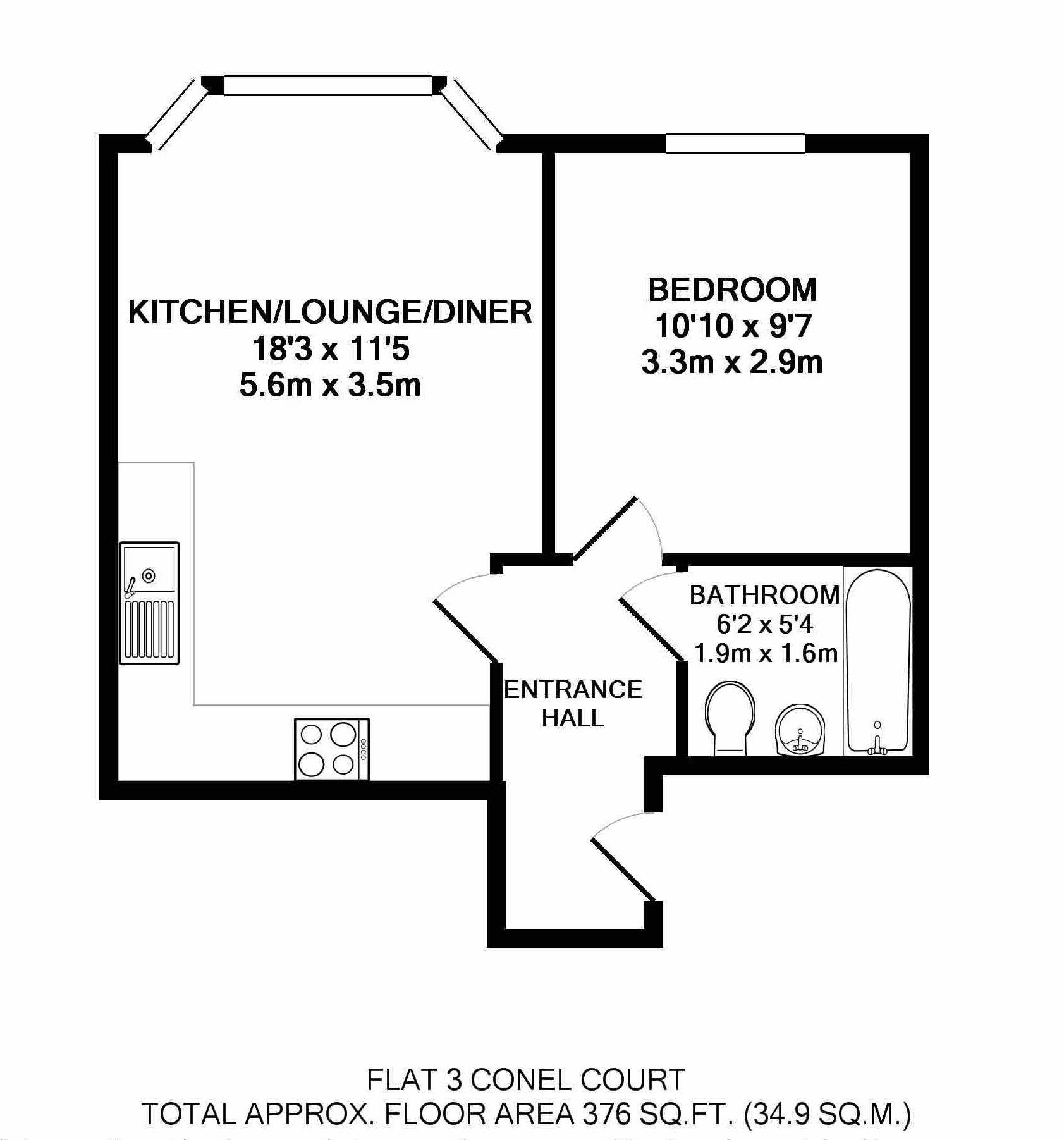 Flat 3 Conel Court FP near Bournemouth University